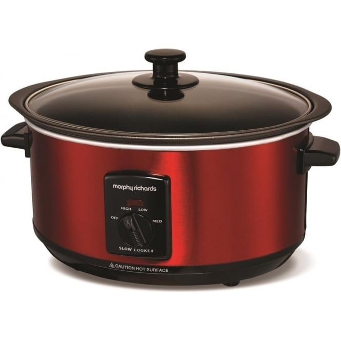 Morphy Richards 48702 Sear and Stew 3.5L Slow Cooker, Red