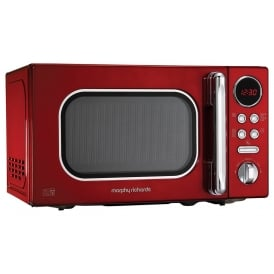 511502 Accents Colour Collection 20L Digital Solo Microwave, Red