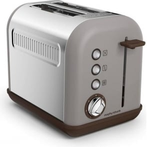 Accents 2 Slice Toaster, Pebble Grey