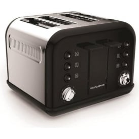 Accents 4 Slice Toaster, Black