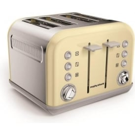 Accents 4 Slice Toaster, Cream