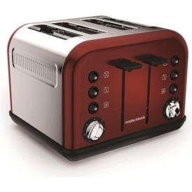 Accents 4 Slice Toaster, Red