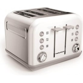 Accents 4 Slice Toaster, White