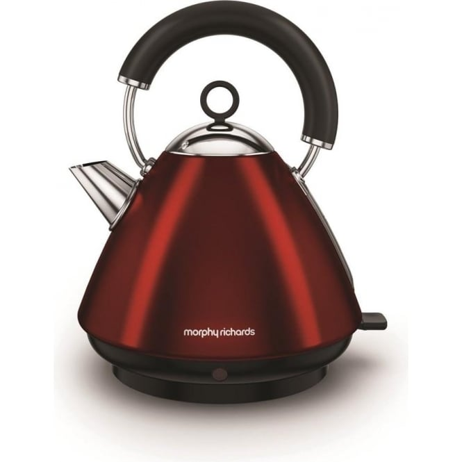 Morphy Richards Accents Pyramid Kettle, Red