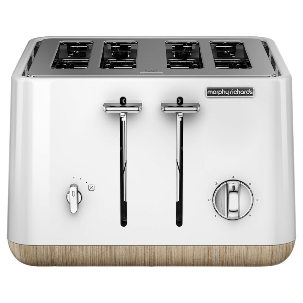 morphy richards aspect 4 slice toaster white wood. Black Bedroom Furniture Sets. Home Design Ideas