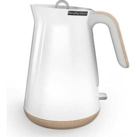 Aspect Trim Kettle, White/Wood
