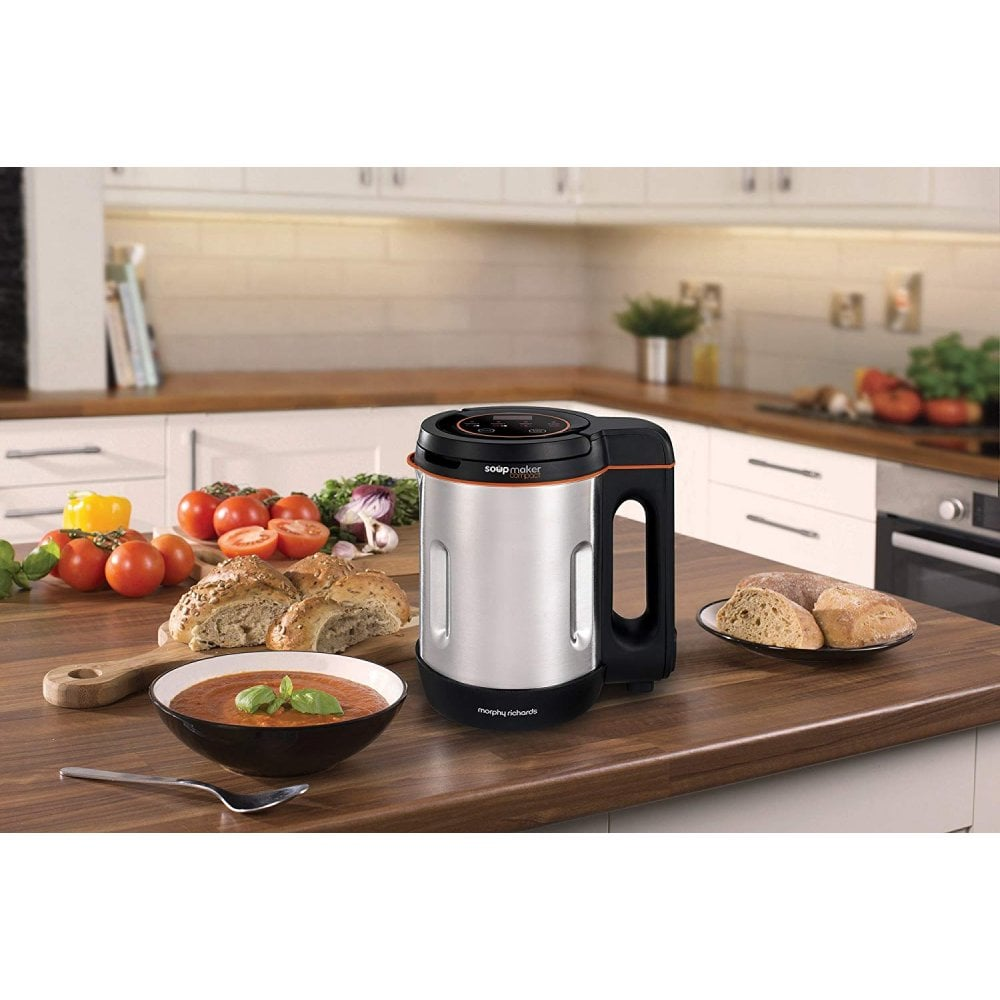 Morphy Richards Compact Soup Maker 501021 Stainless Steel 1 Litre, 900W