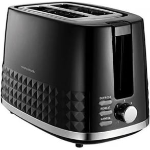 Dimensions 2 Slice Toaster, Black