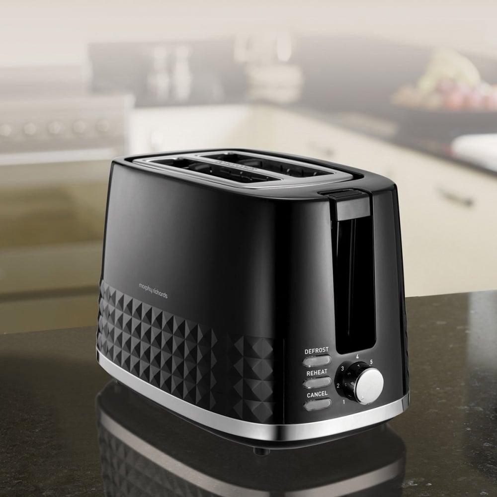 Morphy Richards Toaster: Morphy Richards Dimensions 2 Slice Toaster, Black