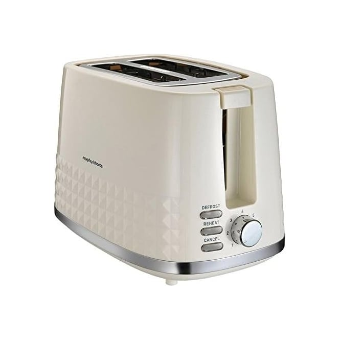 Morphy Richards Dimensions 2 Slice Toaster Cream Morphy