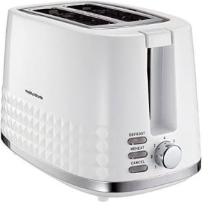 Dimensions 2 Slice Toaster, White