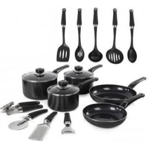 Equip 5 Piece Pan Set and 9 Piece Tool Set
