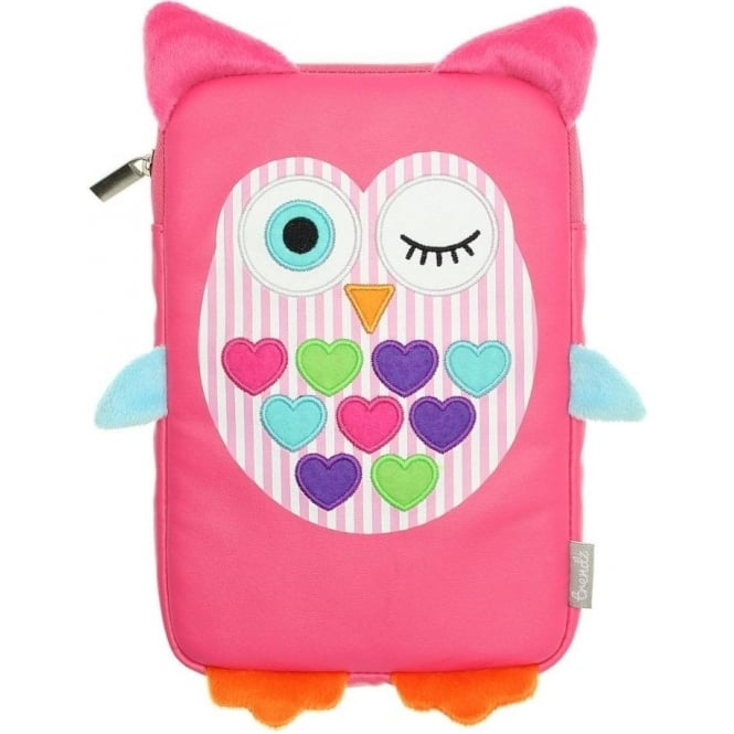 "My Doodles 7"" Pink Owl Sleeve Pouch with Zip"