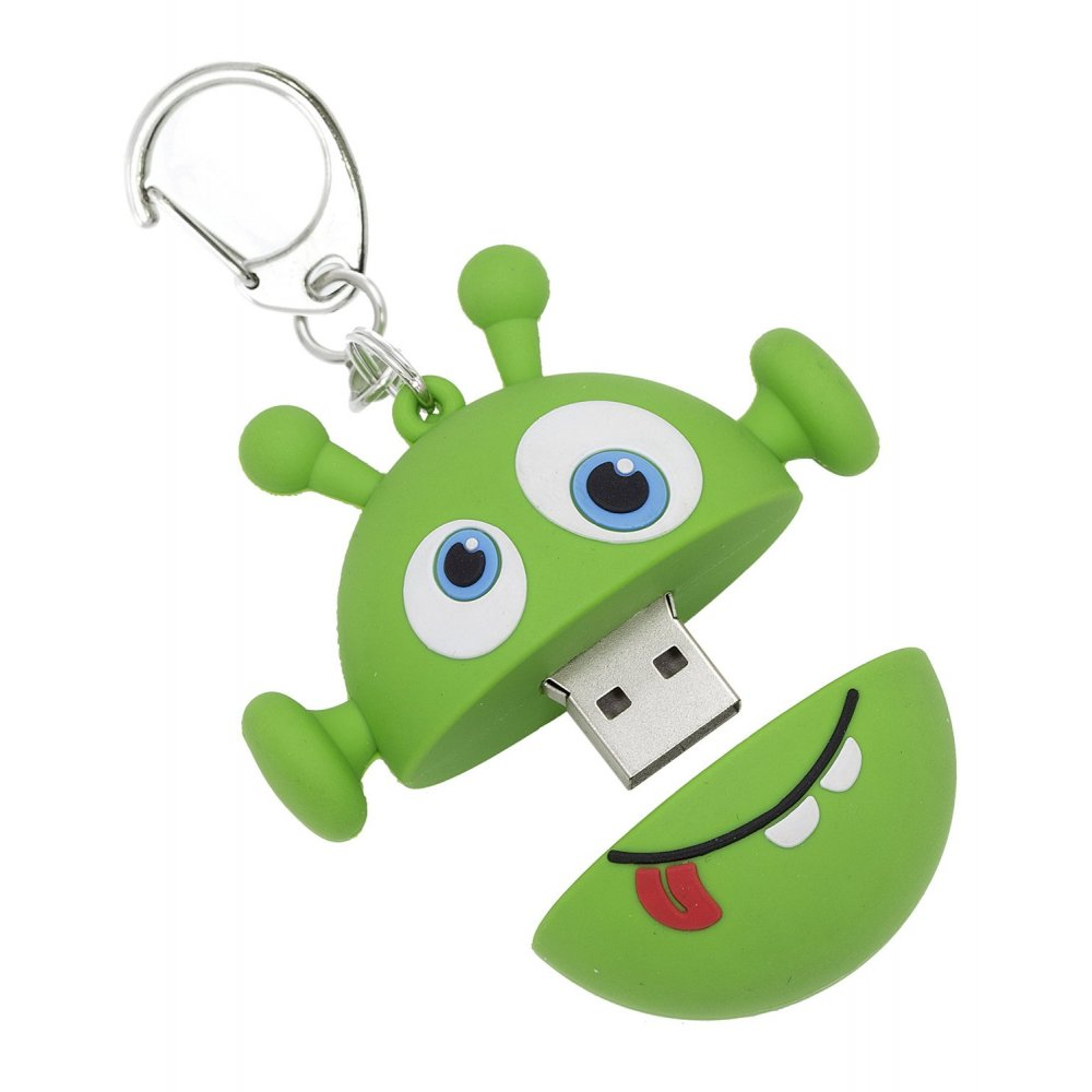 My Doodles 8GB USB Flash Drive Memory Stick With Keyring Attachment, Alien - My Doodles from ...