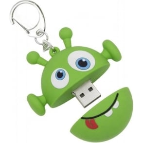 8GB USB Flash Drive Memory Stick With Keyring Attachment, Alien