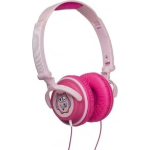 Fun Novelty Child Friendly Character 85Db Volume Limiting On-Ear Headphones Compatible with Smartphones, Tablets and MP3 Devices, Owl