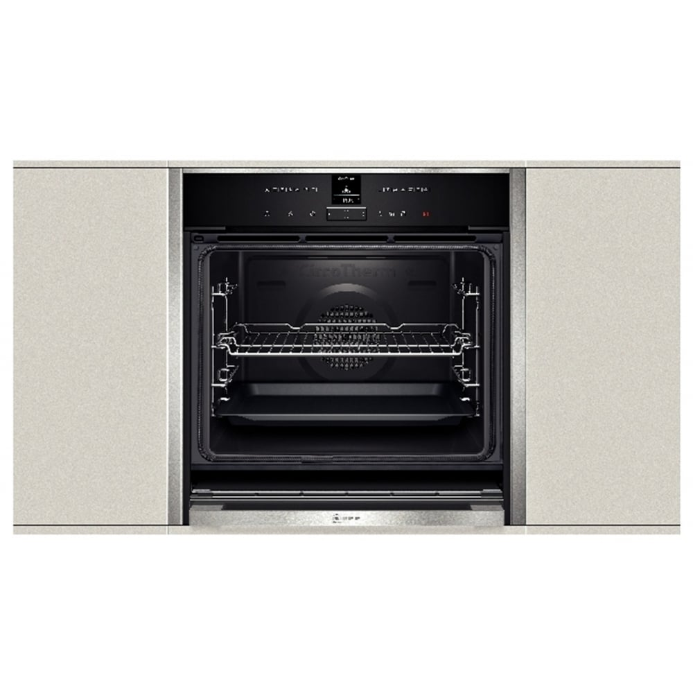 neff b57cr22n0b pyrolytic slide and hide single electric oven stainless steel neff from. Black Bedroom Furniture Sets. Home Design Ideas
