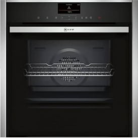 B57VS24N0B Slide and Hide Electric Single Oven with Steam, Stainless Steel