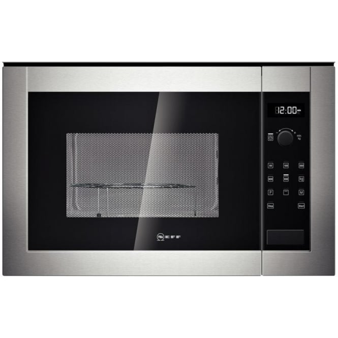 Neff H12GE60N0G Built-in Microwave with Grill, Stainless Steel