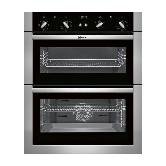 Neff U17M42N5GB Built-Under Double Oven, Stainless Steel