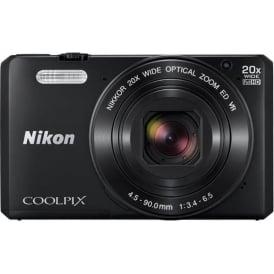 Coolpix S7000 Digital Camera, Black