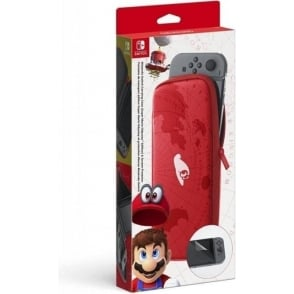 Switch Carry Case Plus Screen Protector Accessory Set - Super Mario Odyssey