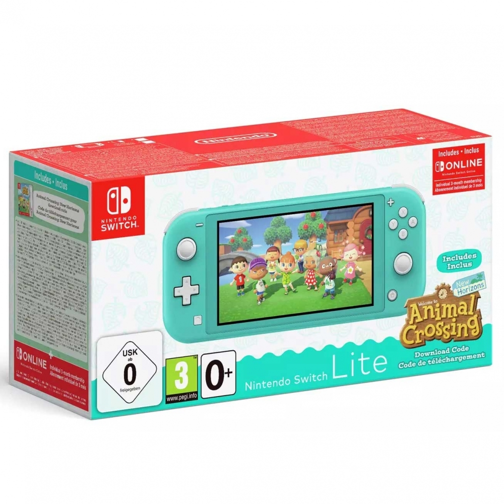 Nintendo Switch Lite Animal Crossing Console - Turquoise ...