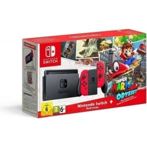 Switch - Red with Super Mario Odyssey Code