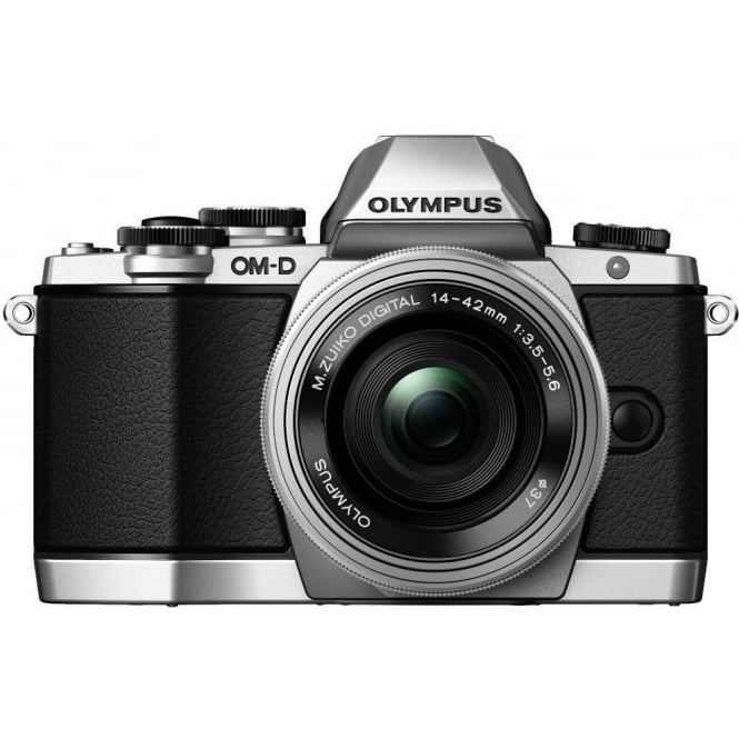 Olympus EM-10 Compact System Camera - Silver 16.1 MP with M.Zuiko ED 14-42mm F3.5-5.6 EZ Lens