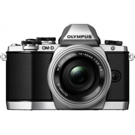 EM-10 Compact System Camera - Silver 16.1 MP with M.Zuiko ED 14-42mm F3.5-5.6 EZ Lens