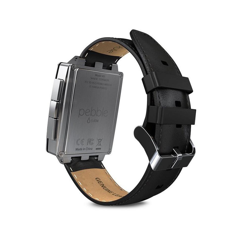 pebble 401slr smartwatch with additional brushed steel. Black Bedroom Furniture Sets. Home Design Ideas