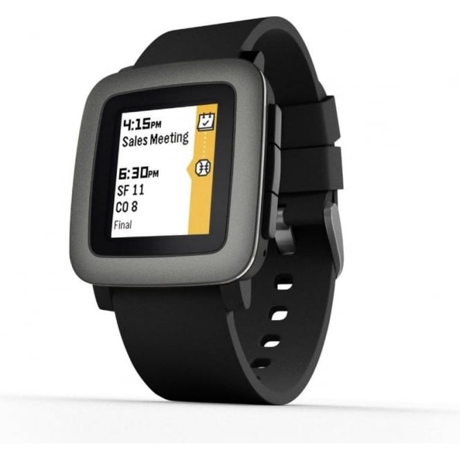 Pebble Time Smartwatch for Smartphone, Black