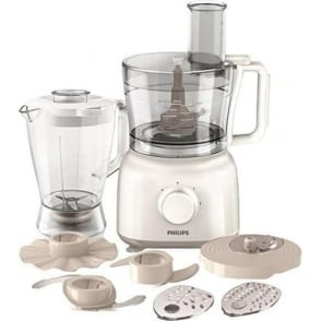HR7628/01 Daily Collection Food processor HR7628/01 650 W Compact 2 in 1 setup 2.1 L bowl Accessories for + 25 functions