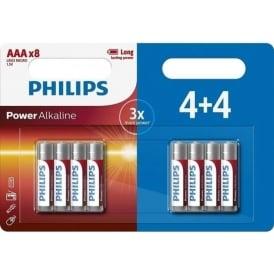 Power Alkaline AAA Batteries, Pack of 8