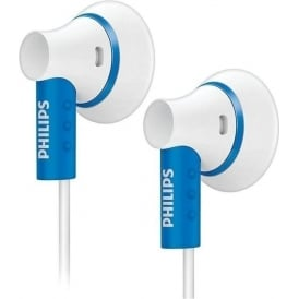 SHE3000BL/10 In-Ear Headphone, White and Blue