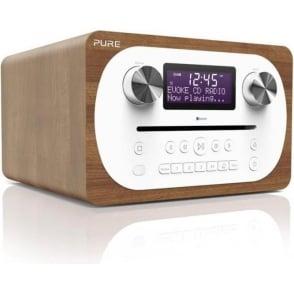 C-D4 DAB/FM Digital Radio with CD and Bluetooth, Walnut