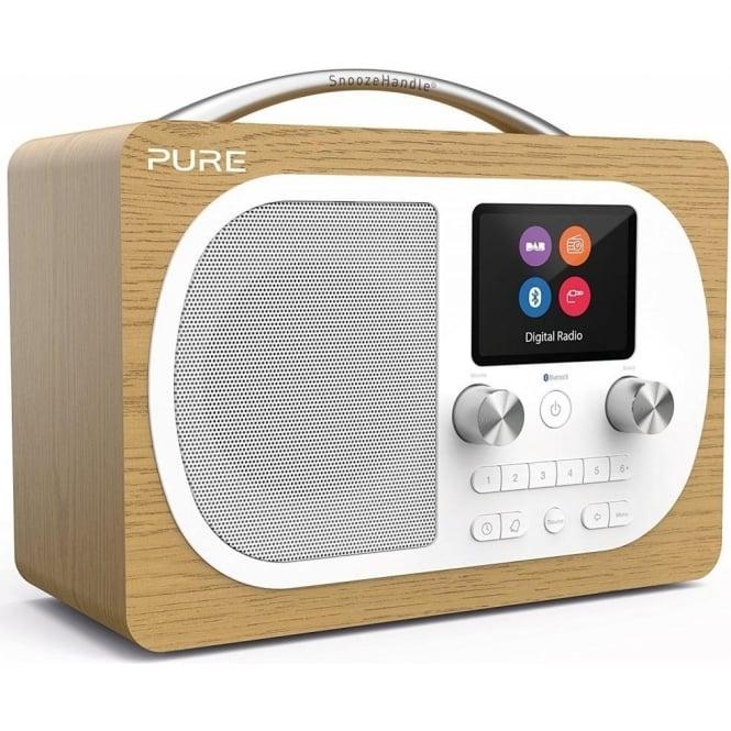 pure pure evoke h4 portable digital dab dab and fm radio with bluetooth colour screen alarm. Black Bedroom Furniture Sets. Home Design Ideas