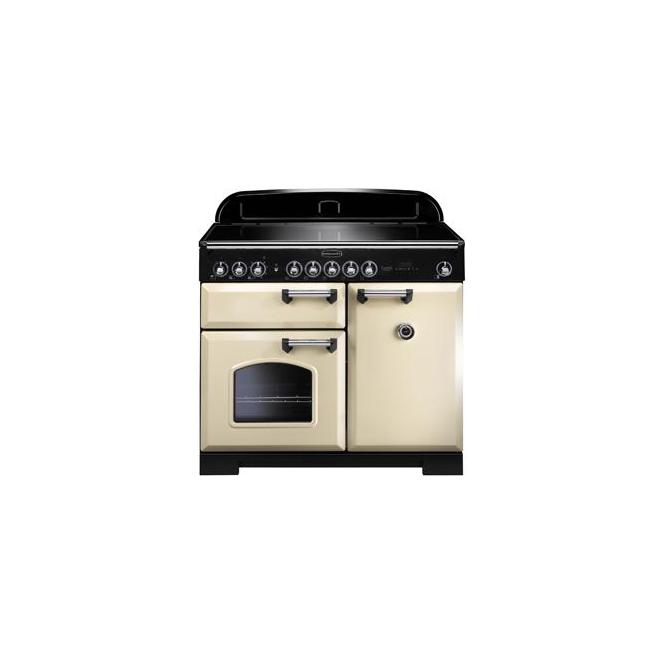 Rangemaster CDL100EICRC Classic Deluxe 100cm Range Cooker, Cream