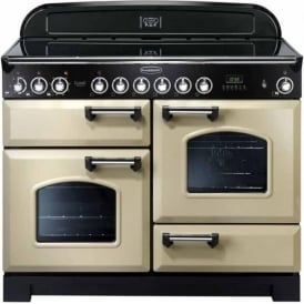 CDL110ECCR/C Classic Deluxe 110 Electric Range Cooker with Ceramic Hob, Cream, Chrome Trim