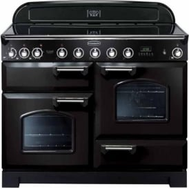 CDL110EIBLC Classic Deluxe Induction 110 Electric Range Cooker with Induction Hob, Black, Chrome Trim
