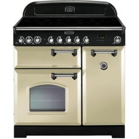 Classic Deluxe CDL90EICR/C 90cm Electric Range Cooker with Induction Hob, Cream/Chrome