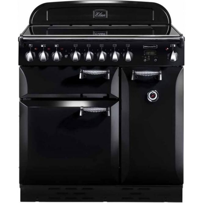 Rangemaster ELAS90EIBL Elan 90 Electric Range Cooker with Induction Hob, Black