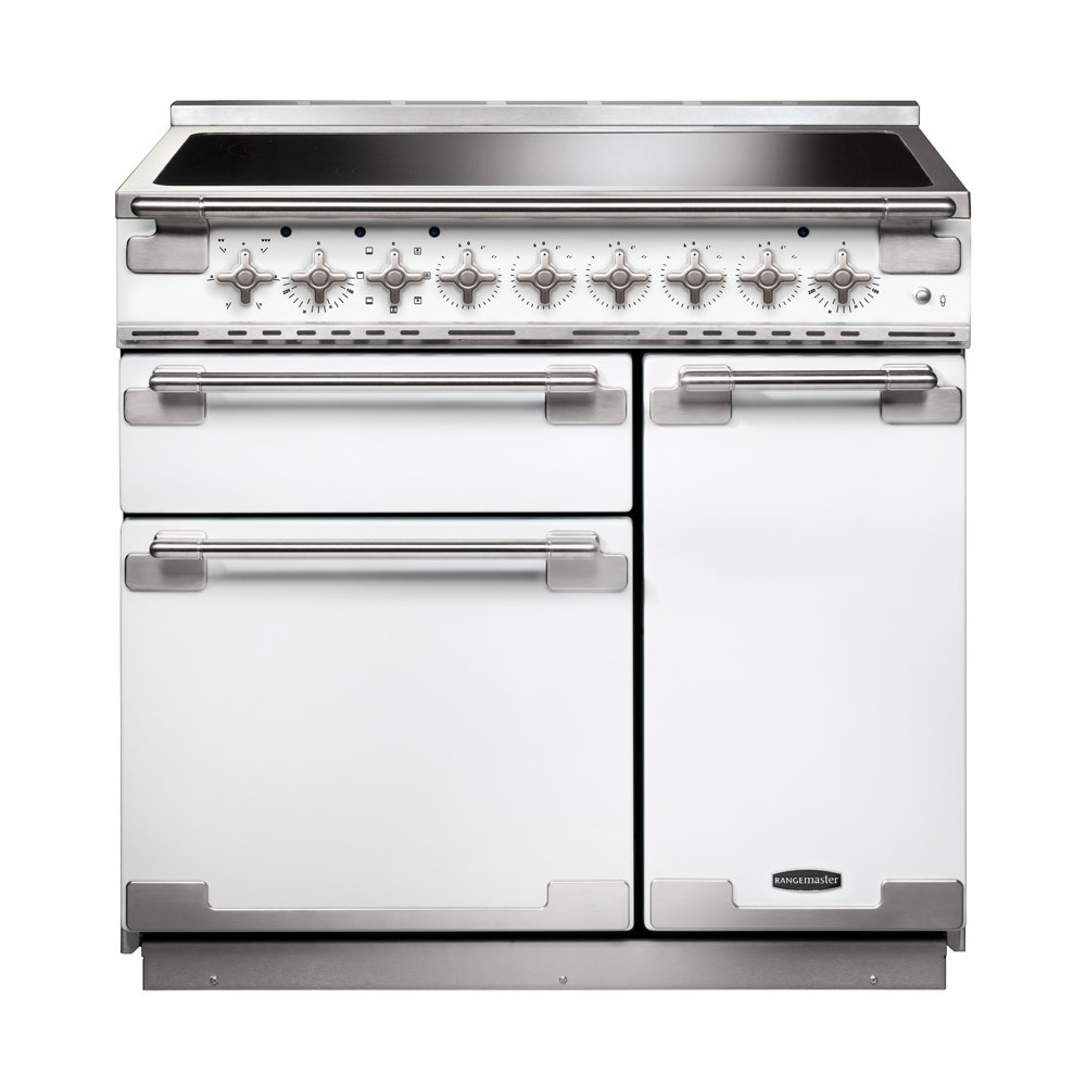 Rangemaster Els90eiwh Elise 90 Electric Range Cooker With Induction Circuit Board Buy Hob White