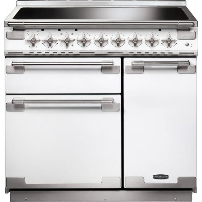 Rangemaster ELS90EIWH Elise 90 Electric Range Cooker with Induction Hob, White