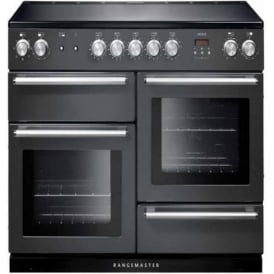 NEX110EISL/C Nexus 110 Electric Range Cooker with Induction Hob, Slate, Chrome Trim