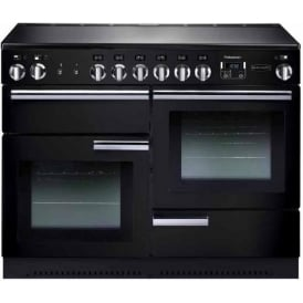 PROP110ECGB/C Professional+ 110 Electric Range Cooker with Ceramic Hob, Black, Chrome Trim