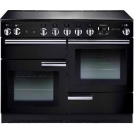PROP110EIGB/C Professional+ 110 Electric Range Cooker with Induction Hob, Black, Chrome Trim