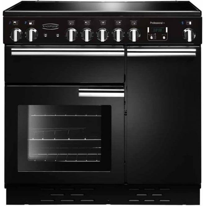 Rangemaster PROP90ECGBC Professional+ 90 with Ceramic Hob, Black