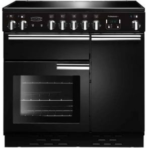 PROP90ECGBC Professional+ 90 with Ceramic Hob, Black