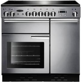 PROP90ECSSC Professional+ 90 Range Electric Cooker with Induction Hob, Stainless Steel, Chrome Trim